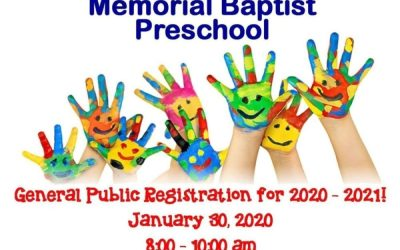 2020 Preschool Registration