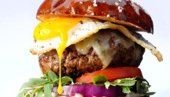 Gruyere and Egg Burgers Recipe: How to Make It   Taste of Home