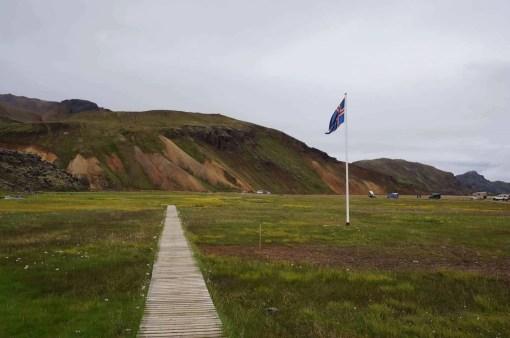Beautiful landscape at Landmannalaugar