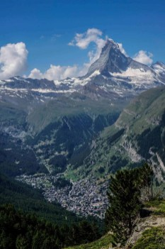 Zermatt coming into view on the final day of the Haute Route.