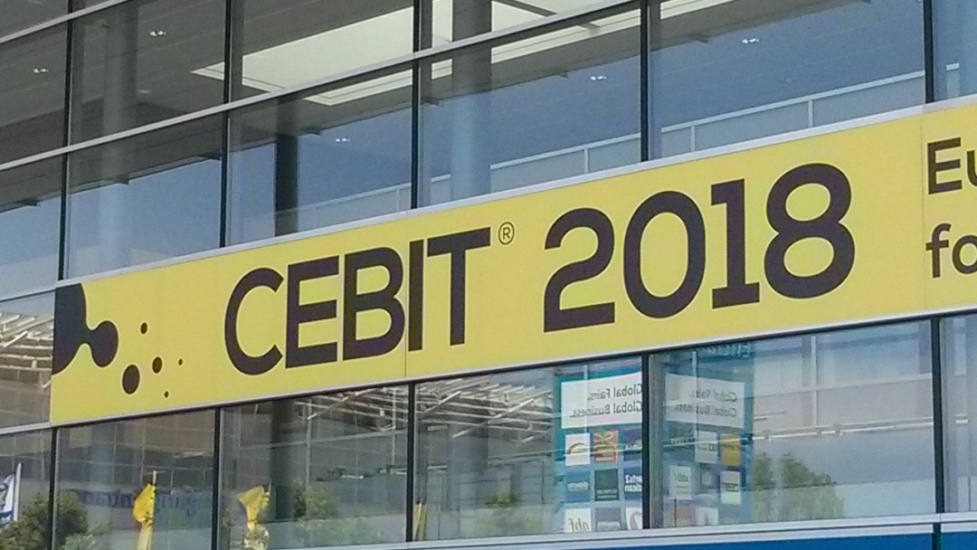 CEBIT 2018 Eingang - CEBIT 2018