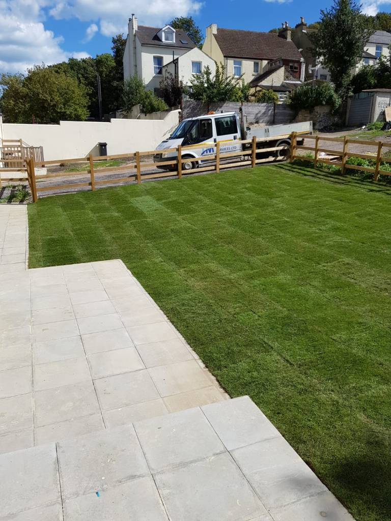 Post and Rail New Lawn, Fencing and Patio. Ashford, Kent. 3