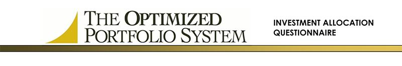 The Optimized Portfolio System Banner