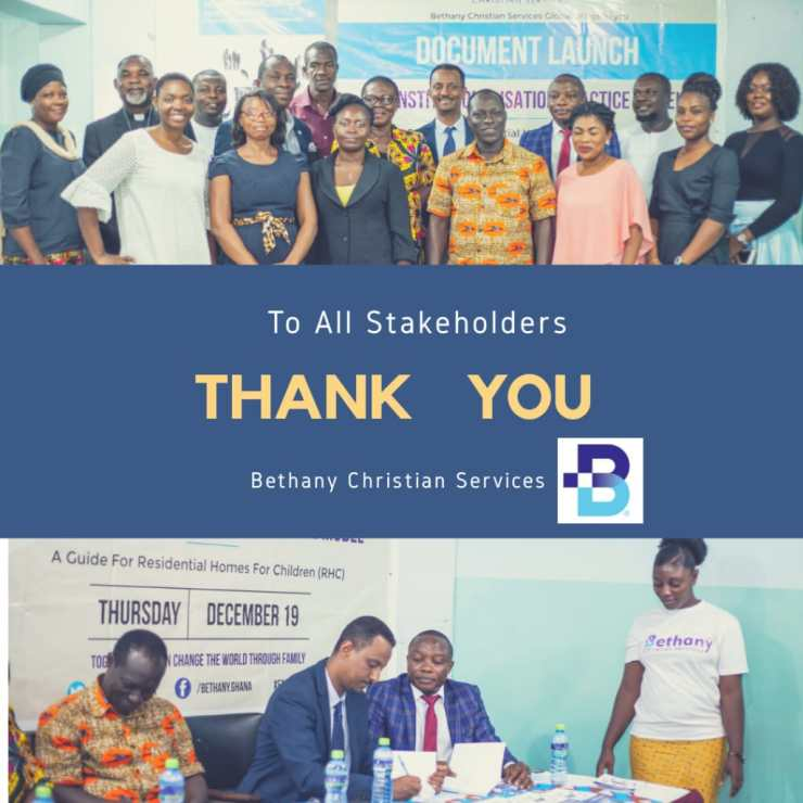 """Bethany Christian Services Ghana Launches """"Document"""" Deinstitutionalisation Practice Model In Ghana"""