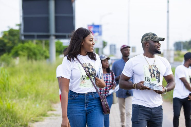 Yvonne Nelson, Prince David Osei, Others Embark On Street Marketing For 'Fix Us'