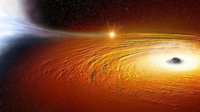 вирахували зірку, що обертається навколо чорної діри