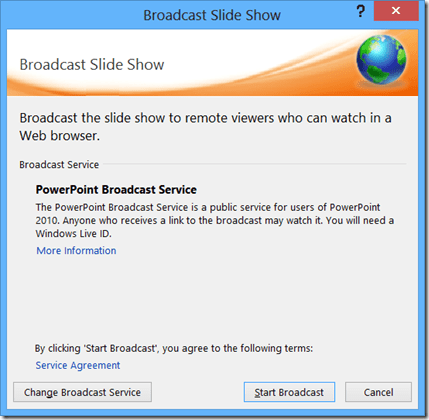 PowerPoint Broadcast Service
