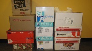 Community Involvement Shows Boxes Stacked Up