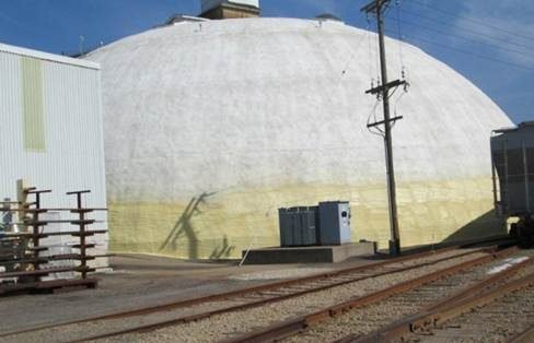 repaired, insulated and coated a concrete processing dome