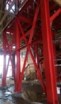 Fertilizer Tower Painting By TMI red long beams