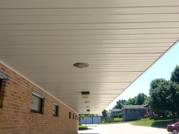 TMI Coatings School Soffit Refinishing