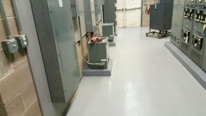 TMI Coatings Concrete Floor Restoration Mechanical Room Hospital