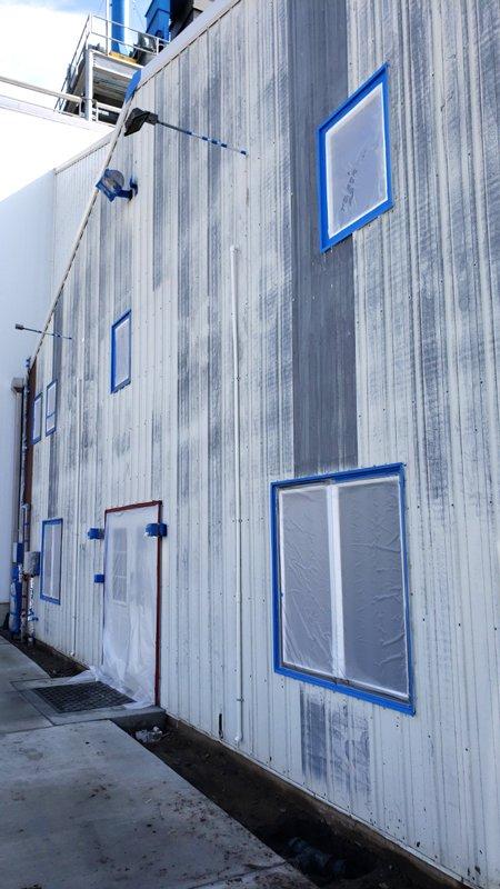 TMI Coatings Preparing Metal Building Exterior for Painting