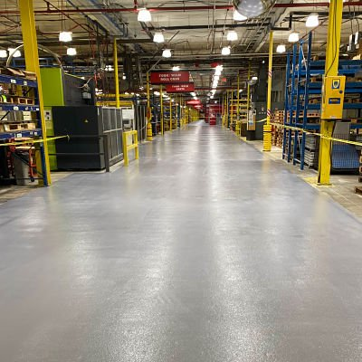 TMI Coatings completes production aisleway coating