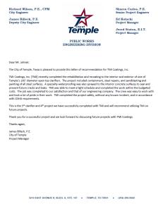 Temple TX Recommendation