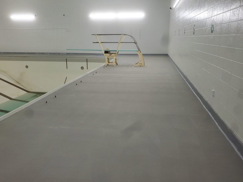 Photo of TMI Coatings pool deck floor