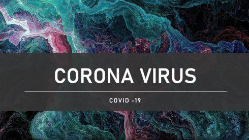 Korona virus tekstinen kuva