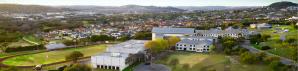 Aerial photo of the TMI campus