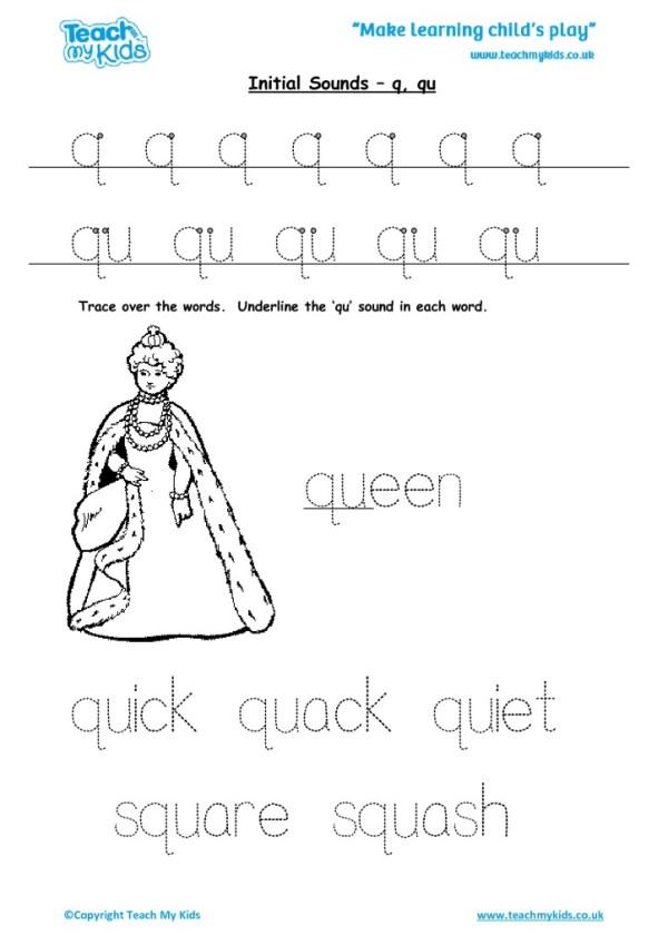 Initial Sounds - q, qu - TMK Education