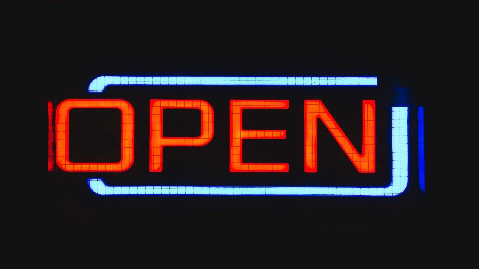 Marketing a Small Business open sign