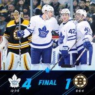 Game 19: Toronto Maple Leafs VS Boston Bruins