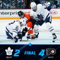 Game 32: Toronto Maple Leaf VS Philadelphia Flyers