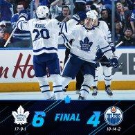 Game 27: Toronto Maple Leafs VS Edmonton Oilers
