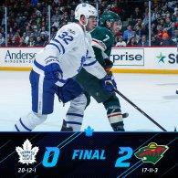 Game 33: Toronto Maple Leafs VS Minnesota Wild