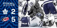 Game 22: Toronto Maple Leafs VS Carolina Hurricanes (L 5-2)