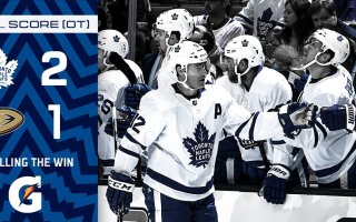 Game 20: Toronto Maple Leafs VS Anaheim Ducks (W 2-1)