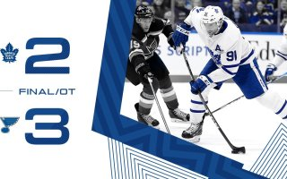 Game 59: Toronto Maple Leafs VS St Louis Blues (OTL 3-2)
