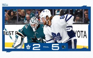 Game 67: Toronto Maple Leafs @ San Jose Sharks (L 5-2)