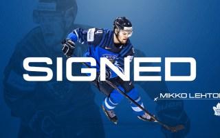 Maple Leafs Sign Mikko Lehtonen