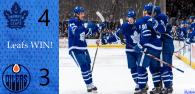 Game 9: Toronto Maple Leafs 4 – 3 Edmonton Oilers