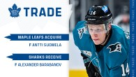 Maple Leafs Acquire Antti Suomela From San Jose
