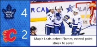Game 38: Toronto Maple Leafs 4 – 2 Calgary Flames