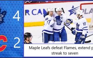 Game 38: Toronto Maple Leafs 4 – 2 Calgary Flames