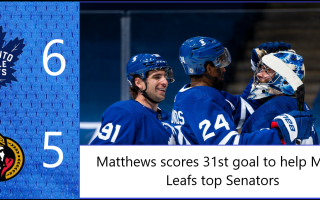 Game 41: Ottawa Senators 5 – 6 Toronto Maple Leafs
