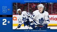 Pre-Season Game 2: Toronto Maple Leafs @ Montreal Canadiens