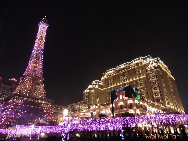 澳門巴黎人酒店夜景 澳門巴黎鐵塔