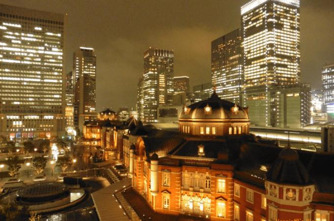 Kitte商廈&「Kitte屋上庭園」的迷人東京車站夜景