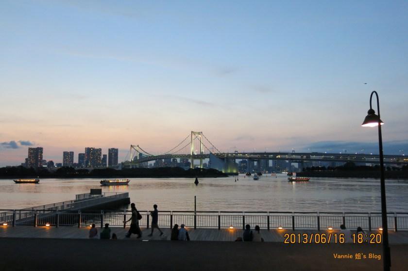 東京台場海濱公園夜景