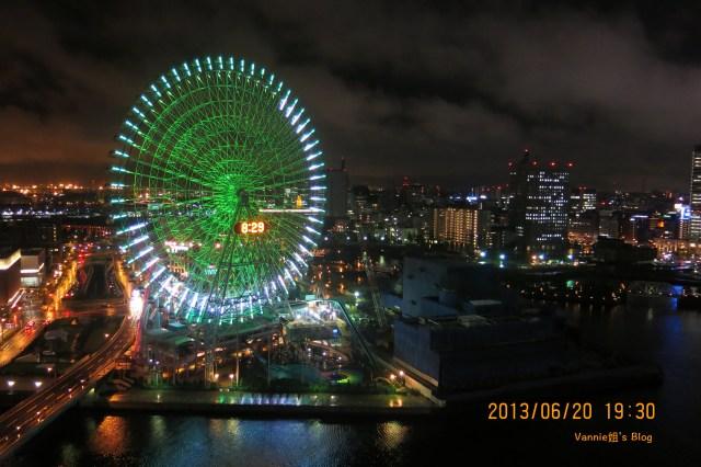 Yokohama night view_Minato Mirai_from Yokohama bay hotel Tokyo