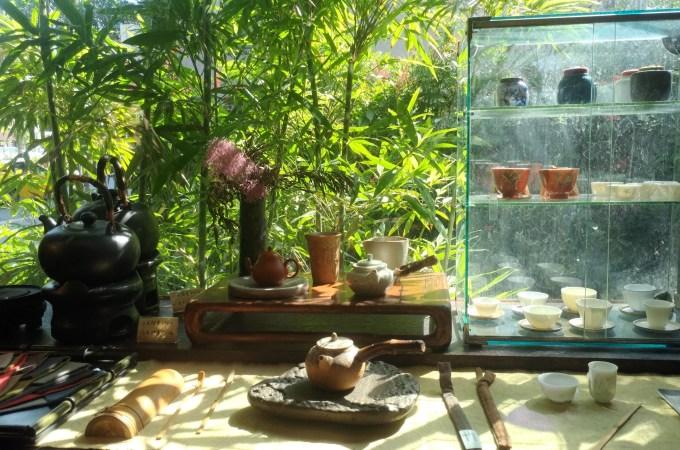 紫藤廬 茶館,在胡適、李敖和阿扁坐過的位置上午餐