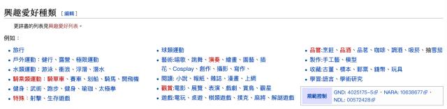 退休後做什麼 ? 興趣有哪些項目 ? 維基百科的興趣清單