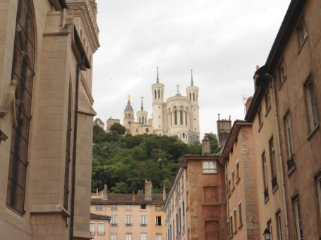 里昂舊城區 里昂主教座堂前眺望 富維耶聖母院