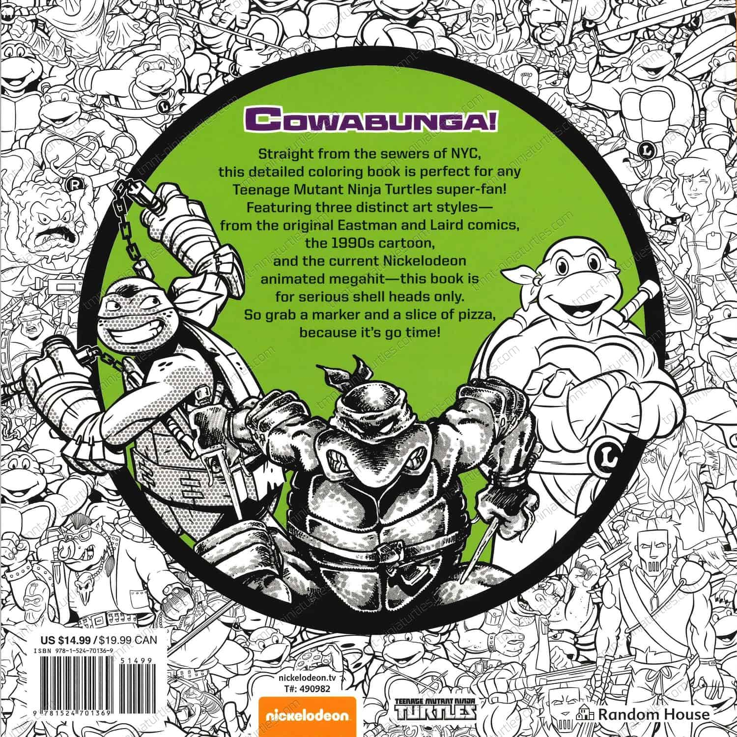 Tmnt Kickin It Old School Coloring Book 1st Print Aug