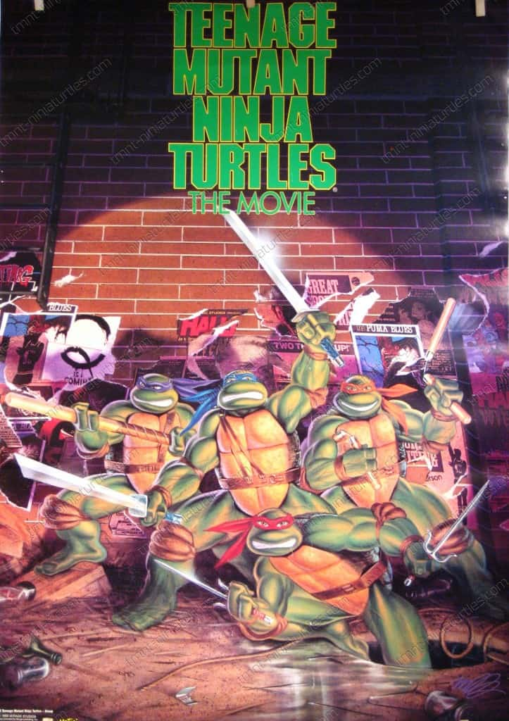 Posters Wall Hangings TMNT The Movie Poster Comic