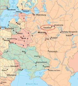 Map - Yaroslavl, Russia, 2011