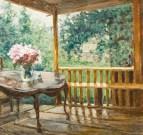 Aleksandr-Mikhailovich-Gerasimov-After-The-Rain-Oil-on-Canvas-22-1-2-x-23-3-8